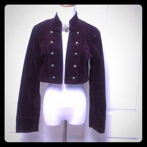 Beautiful soft velvet military inspired jacket